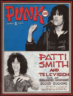 PUNK magazine Established by John Holmstrom, Legs McNeil Ged Dunn Jnr, Punk Magazine documented the New York punk scene of and soon became the last word on the downtown scene / issue 2 feat Patti Smith, Punk Magazine, Punk Subculture, Band Posters, Music Posters, Concert Posters, Robert Mapplethorpe, School Of Visual Arts, Patti Smith, The New Wave