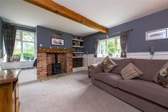 4 bedroom detached house for sale in Billingborough Road, Horbling, Sleaford, - Rightmove. Exposed Brick Walls, Exposed Beams, Grey Painted Walls, Log Burning Stoves, Window Seat Storage, Multi Fuel Stove, Paved Patio, Wood Burner, Cottage Interiors