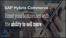 The robust and modular SAP Hybris Commerce platform is designed to handle high traffic and order volumes. Go beyond quote-to-cash with a solution that lets you plan, innovate and adapt your system to meet the needs of a dynamic market. At Acuiti Labs, we help to boost your business. Manage your revenue, billing & invoicing. Contact us now >> https://acuitilabs.co.uk/hybris-billing/