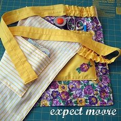 """double-sided apron with pockets and """"comfort ruffles"""" tutorial"""