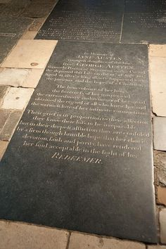 Winchester Cathedral, Jane Austen. I love her.