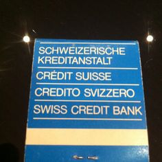 Credit Suisse matches, oldschool