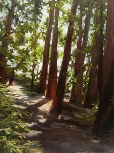 DPW Fine Art Friendly Auctions - Redwood Shadows by Karen Werner