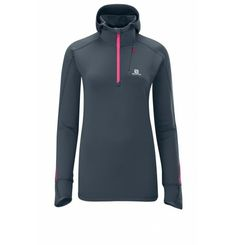 **SALE** When the temperature drops and you want to spend the whole day in the snow then you need something with which you can wrap yourself well. The Swift Hooded Midlayer of Solomon with the ears Warming hood is the perfect extra-layer when the temperatures drop or a stylish top for the whole year. since 1947 Salomon develop innovative products to enhance the performance of athletes ever. From the outset performance in the foreground - that is our philosophy for the future. Ski Fashion, Spring Fashion, Innovative Products, Stylish Tops, Solomon, Athletes, Swift, Philosophy, Skiing