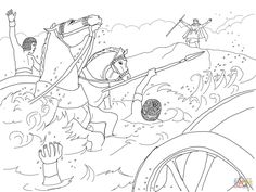 Crossing The Red Sea Coloring Page Pages Are A Great Way To End Sunday School Lesson They Can Serve As Take Home Activity