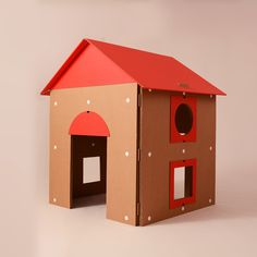 Eco and You ⓔ Cardboard Cat Scratcher, Cardboard Cat House, Cardboard Crafts, Cat Furniture, Furniture Making, Furniture Design, Diy Fort, Outdoor Decor, Tutorial