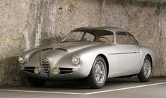 Alfa Romeo 1900 CSS Zagato 1956 - I had never seen this car before today and I think it's one of the most balanced Zagato designs ever. Yes, I'll grant you, the front does have a touch of the 'myopic rodent' about it, but the lines are superb. Alfa Romeo Cars, Jaguar, Ferrari, Lamborghini, Retro Cars, Vintage Cars, Bugatti, Maserati, Sport Cars