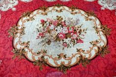 Antique Aubusson French Carpet Rug 4