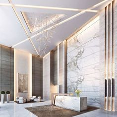 Whether you have a grand and comfortable lobby or a minimalistic and intimate one, all the elements of your hotel lobby design must be in total harmony. Luxury Home Decor, Luxury Interior Design, Interior Architecture, Hotel Lobby Design, Hall Hotel, Plafond Design, False Ceiling Living Room, Lobby Interior, Inspiration Design