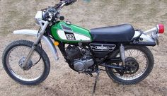 """1975 Yamaha DT100.  This model was actually better designed and better built than the """"modernized"""" 1977 model."""