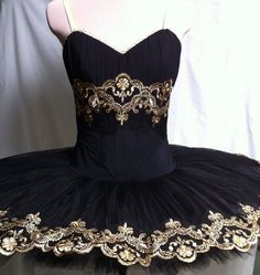 Black and gold rental tutu