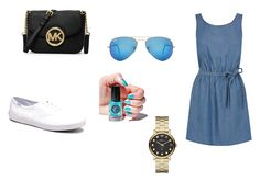 """""""Untitled #20"""" by kmunar on Polyvore featuring Oasis, Keds, MICHAEL Michael Kors, Ray-Ban, Marc by Marc Jacobs and Cirque Colors"""
