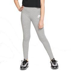 I would prefer the black ones a lot more! Nike Leggings, Workout Leggings, Girls Sportswear, Girls Fall Outfits, Nikes Girl, School Shopping, Girl Falling, Nike Logo, Confidence