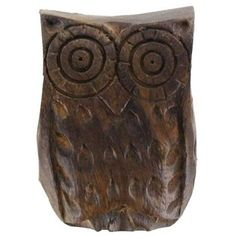 """Customize dresser drawers, cabinets, doors and more with this adorable Natural Wood Owl Knob.    Measurements:      1 1/8"""" Wide Knob    1 1/8"""" Knob Projection (approximate distance knob will extend from drawer or cabinet door)    1 1/2"""" Long Screw"""