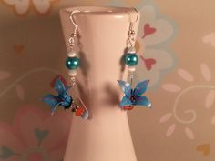 Origami Lily earrings by FMoon on Etsy, $22.00