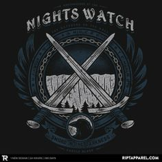 Night's Watch  Grab this on T-Shirt today at $10 for limited hours only, today. Click the image for details  #GOTSeason4 #asoiaf #gameofthrones