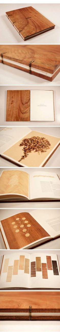 Minimal hand bound portfolio using unconventional materials to make the simple design feel high quality.: