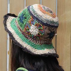 Summer garland straw hat,women outdoor folding hand knitted cap,National Holiday Beach cap,pure handmade national style sun hat