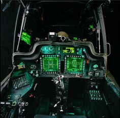 Cockpit of an AH-64. Tell me that doesn't look awesome