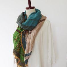 tamaki niime |玉木新雌 ルーツショールMIDDLE wool70%- 手仕事の器と雑貨のWEBショップ|雑貨店アオトキイロ