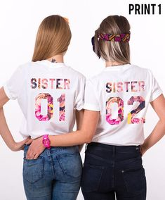 Sister Gift, Gift for Sister, Sister T-shirt, Sister 01 Sister 02 Shirts, Sister Shirts, Matching Sister Shirts, Sister Matching Shirts ◆ ◆ ◆ ◆ ◆ ◆ ◆ ◆ ◆ ◆ ◆ ◆ ◆ ◆ ◆ ► THE PRICE IS FOR THE SET OF TWO MATCHING SHIRTS. ► Numbers on the shirts can be CUSTOMIZED upon request! Just please