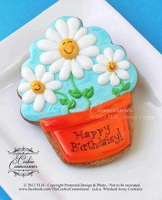 Daisy Flower Pot Cookie