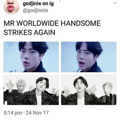 Jin Mic Drop Remix MV Worldwide Handsome