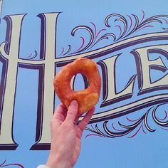 Hole Doughnuts - great fresh-made yeast doughnuts of the day, with creative flavor combos. Located on Haywood Rd. in the developing eastern end of West Asheville, NC.