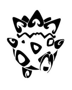 Tribal Togepi tattoo..would never get it but that's awesome lol