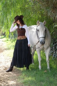 Old West style steampunk - could do this so easily with things I already have in my closet!