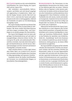 Die Caponi deckt mit ihren 3 Familien - der Caponi Slab, der Caponi Display und die Caponi Text - eine riesen Spannbreite an  Schriftschnitten von zurückhaltender Eleganz zu klatschhafter Überschwänglichkeit. In der DIN Klassifikation würde sie der III. Klasse, der Barock-Antiqua zugeordnet werden, da sie genau auf der Schwelle zwischen den statischen Schriften des Klassizismus und den dynamischen Schriften der Renaissance Antiqua steht.