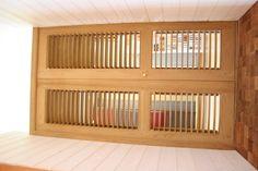 belle porte persiennes en teck birman avec persiennes reglables bye Bois et Compagnie 54 avenue Montaigne 33160 Saint Médard en Jalles France