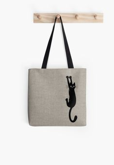 'Black Cat Holding On' Tote Bag by Jenn Inashvili Black Cat Holding On by Jenn . 'Black Cat Holding On' Tote Bag by Jenn Inashvili Black Cat Holding On by Jenn . 'Black Cat Holding On' Tote Bag by Printed Tote Bags, Canvas Tote Bags, Cotton Tote Bags, Reusable Tote Bags, Cat Bag, Cat Stickers, Tote Purse, Handmade Bags, Purses And Bags