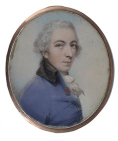 A PORTRAIT MINIATURE OF A YOUNG MAN, BY ANDREW PLIMER (1763-1837), CIRCA 1795 in a blue coat with black collar, on ivory