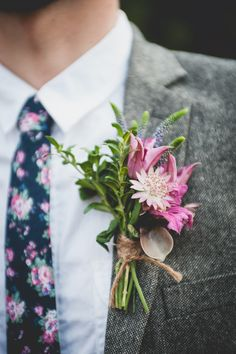 Rustic Bohemian Styled shoot. Photography by http://www.lucygphotography.co.uk/  Floral tie w/ smart suit?