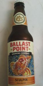 Sculpin IPA is a American IPA style beer brewed by Ballast Point Brewing Company in San Diego, CA. 97 out of 100 with 2320 reviews, ratings and opinions.