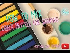 Polymer clay tutorial: How to mix chalk pastels for shading your charms / DIY - YouTube