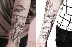 #tattoofriday - Tatuagens botânicas da russa Olga Koroleva;