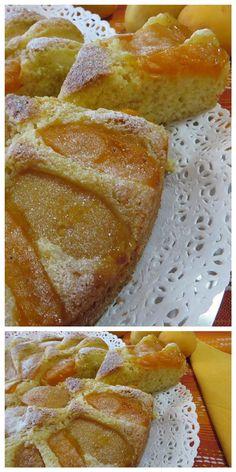 Torta di albicocche , con aggiunta del cocco! #torta #albicocche #ricettegustose