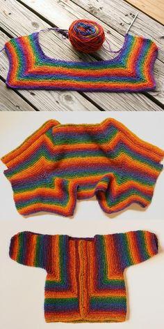 knit project - my Baby Surprise Jacket, Elizabeth Zimmermann design Baby Knitting Patterns, Knitting For Kids, Crochet For Kids, Baby Patterns, Knitting Projects, Crochet Patterns, Magia Do Crochet, Knit Crochet, Knit Baby Sweaters