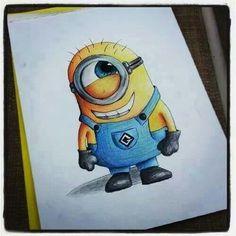 Minions! A cute minion drawing!