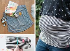 Mama-to-Be Geschenkschachtel und ein selbstgenähtes DIY-Bauchband - so machst du werdende Mamis glücklich! Ein Tutorial von johannarundel.de
