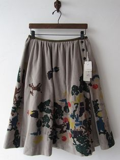 drop thrift shop purchase / Actual purchase perhonen Mina happening skirt / [drop]