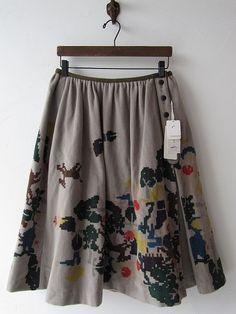 drop thrift shop purchase / Actual purchase perhonen Mina happening skirt / [drop]