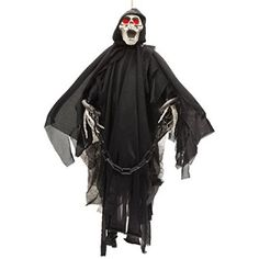 Review Prextex Animated Skeleton Ghost Halloween Decoration with Glowing Red Eyes, 20-Inch for  Halloween Gifts Idea Deal for  #Halloween Gifts Idea Online