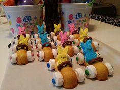 Fleet of Easter Bunny Cars