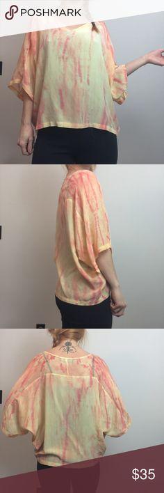 4167028cf5 Gypsy 05 Orange Yellow Tye Dye Silk Blouse Shirt Gypsy 05 Top orange and  yellow
