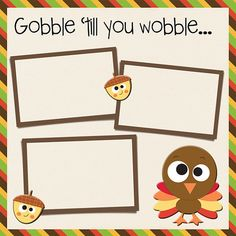 Cute Thanksgiving Scrapbook page