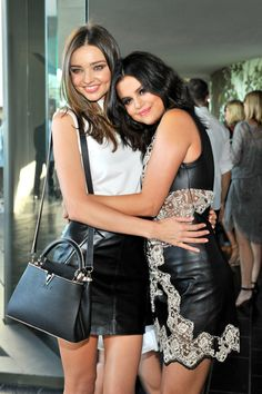Pin for Later: 11 Things You Must Know About the Louis Vuitton Cruise Show The Celebs Buddied Up Miranda Kerr and Selena Gomez