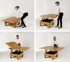 Basic space saver coffee table  resource furniture
